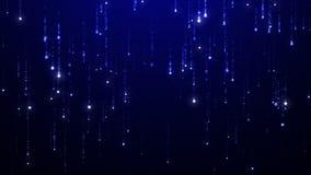 Starfall background. UHD 2160p. 4K resolution 3840x2160. Blue starfall background picture. In UHD resolution 2160p vector illustration