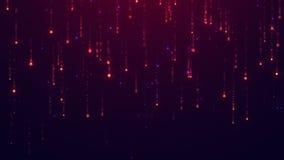 Starfall geanimeerde achtergrond Van een lus voorzien animatie UHD 2160p 4K resolutie 3840x2160 stock footage