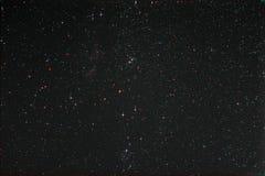 Starfield和Perseus和银河 库存图片