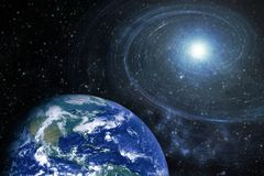 Starfield星系美国航空航天局装备的这个图象的螺旋元素 库存照片