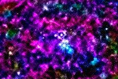 Starfield, νεφέλωμα αστεριών Στοκ φωτογραφία με δικαίωμα ελεύθερης χρήσης