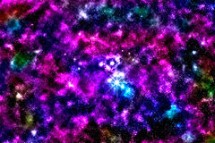 Starfield, межзвёздное облако звезды Стоковое фото RF