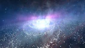 Starfield спиральной галактики Стоковое Изображение