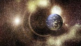 Starfield -地球 库存例证