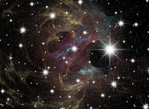 Starfield. Space. A congestion of stars. Astronomy background galaxy Royalty Free Stock Images