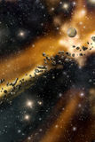 Starfield and asteroids background Stock Photo