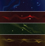 Starfield Banners Stock Photos