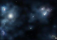 Starfield con la nebulosa cosmica Immagini Stock Libere da Diritti