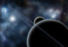Starfield con la nebulosa cosmica Fotografie Stock Libere da Diritti
