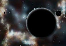 Starfield creado Digitaces con la nebulosa cósmica Fotos de archivo libres de regalías