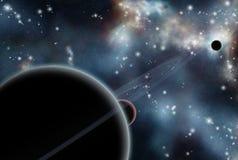Starfield creado Digitaces con la nebulosa cósmica Fotografía de archivo