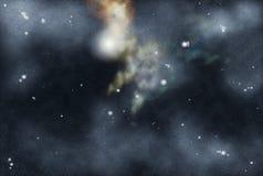 Starfield criado Digitas Imagens de Stock