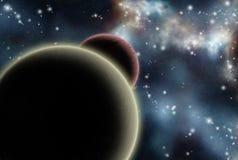 Starfield criado Digitas com nebulosa cósmica Imagem de Stock