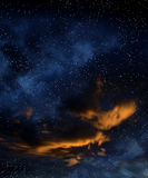 Starfield dello spazio profondo Immagini Stock Libere da Diritti