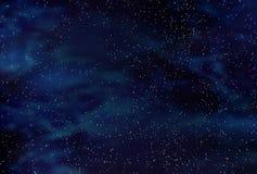 Starfield do espaço escuro foto de stock