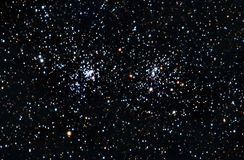 Starfield. Ein Doppelsternblock Stockbilder