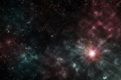 Starfield - Elementen van dit die Beeld door NASA wordt geleverd stock afbeelding