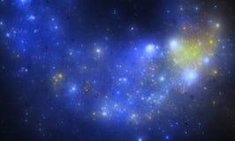 Starfield escuro do espaço profundo Fotos de Stock