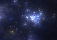 Starfield escuro do espaço profundo Fotografia de Stock Royalty Free
