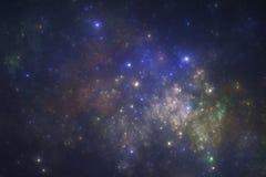 starfield för djupt avstånd Arkivbild