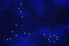 Starfield-Hintergrund des zodiacal Symbols Stockbilder
