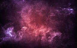 Starfield i djupt utrymme många ljusår långt från jorden Beståndsdelar av denna avbildar möblerat av NASA Arkivfoton