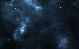 Starfield i djupt utrymme många ljusår långt från jorden Beståndsdelar av denna avbildar möblerat av NASA Royaltyfria Foton