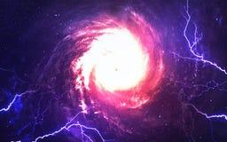 Starfield i djupt utrymme många ljusår långt från jorden Beståndsdelar av denna avbildar möblerat av NASA Royaltyfria Bilder
