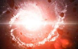 Starfield i djupt utrymme många ljusår långt från jorden Beståndsdelar av denna avbildar möblerat av NASA Arkivbilder