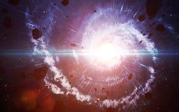 Starfield i djupt utrymme många ljusår långt från jorden Beståndsdelar av denna avbildar möblerat av NASA Fotografering för Bildbyråer