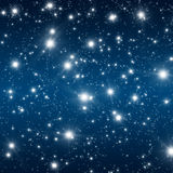 Starfield. Illustration of a starfield in the night royalty free illustration