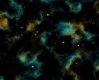 Starfield interplanetario Fotografia Stock
