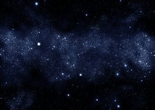 Starfield milky way. Starfield in the milky way galaxy royalty free illustration