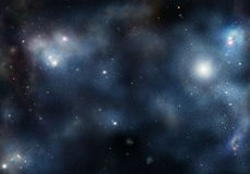 Starfield mit kosmischem Nebelfleck Lizenzfreies Stockbild