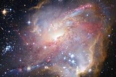 Галактика, starfield, межзвёздные облака, скопление звезд в глубоком космосе Искусство научной фантастики стоковые изображения rf