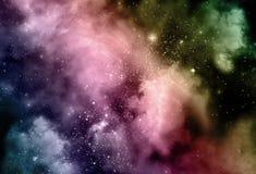 Starfield natthimmel Arkivbild