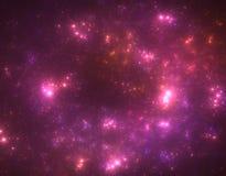Starfield oscuro del espacio profundo stock de ilustración