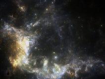 Starfield oscuro del espacio profundo ilustración del vector