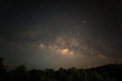 Starfield på natten Royaltyfria Foton