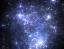 Starfield scuro dello spazio profondo Fotografie Stock