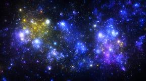 Starfield scuro dello spazio profondo Immagini Stock