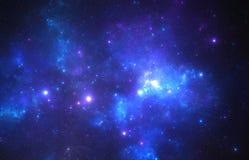 Starfield scuro dello spazio profondo Immagine Stock Libera da Diritti