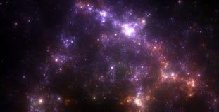 Starfield scuro dello spazio profondo Fotografie Stock Libere da Diritti