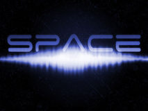 Starfield with sonic burst and space text Stock Photography
