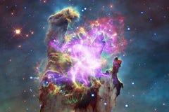 Starfield stardust和星云在不尽的美丽的宇宙 美国航空航天局装备的这个图象的元素 库存例证
