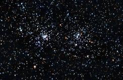 Starfield. Um conjunto de estrelas dobro Imagens de Stock
