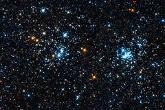Starfield. Un cúmulo de estrellas doble Foto de archivo