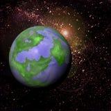 Starfield und Planet Lizenzfreie Stockbilder