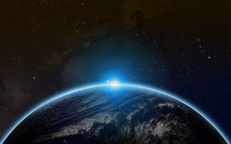 Starfield universum royaltyfria foton