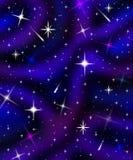 Starfield astratto con le nuvole e le meteore delle nebulose royalty illustrazione gratis